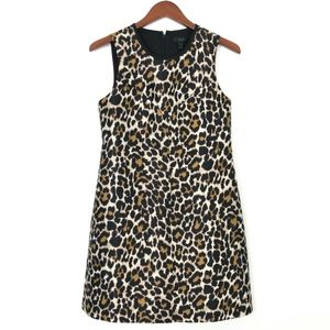 J Crew | Leopard Print A Line Mini Dress